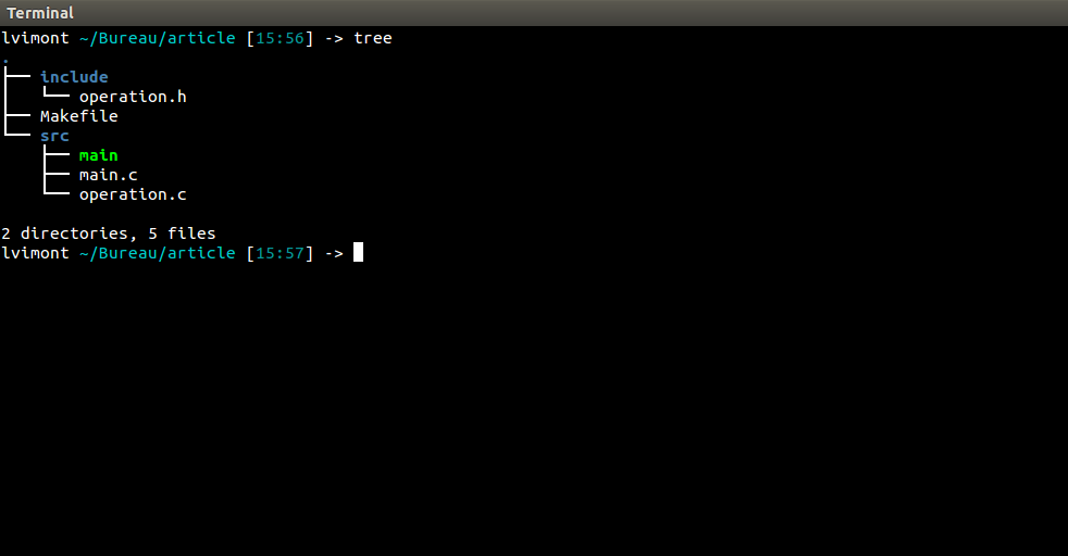Arborescence - dossier source