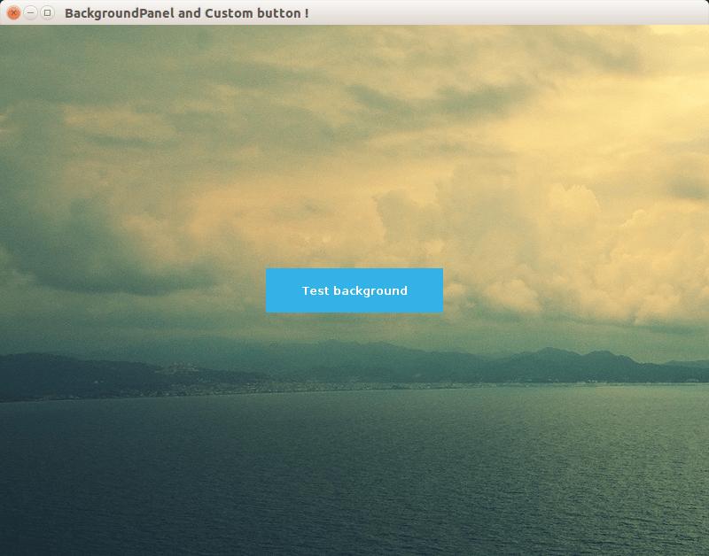 Java : BackgroundPanel & MyButton