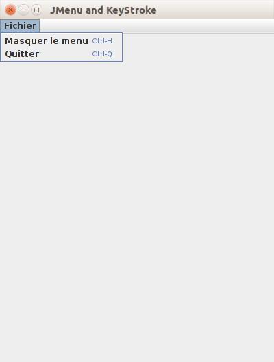 Java - JMenu résultat