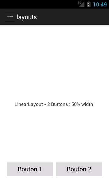 Linearlayout - Boutons