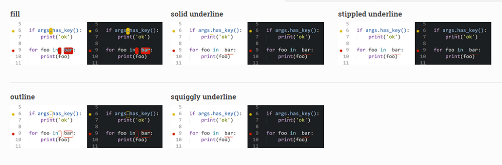 sublime-text-sublime-linter-mark-styles