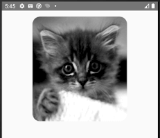 android snippets rounded image view