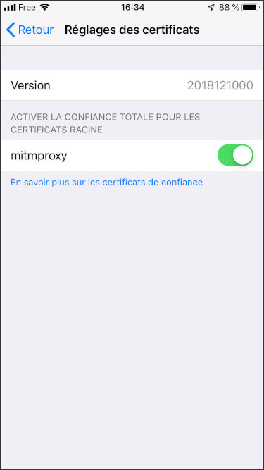 mitmproxy ios settings certificates